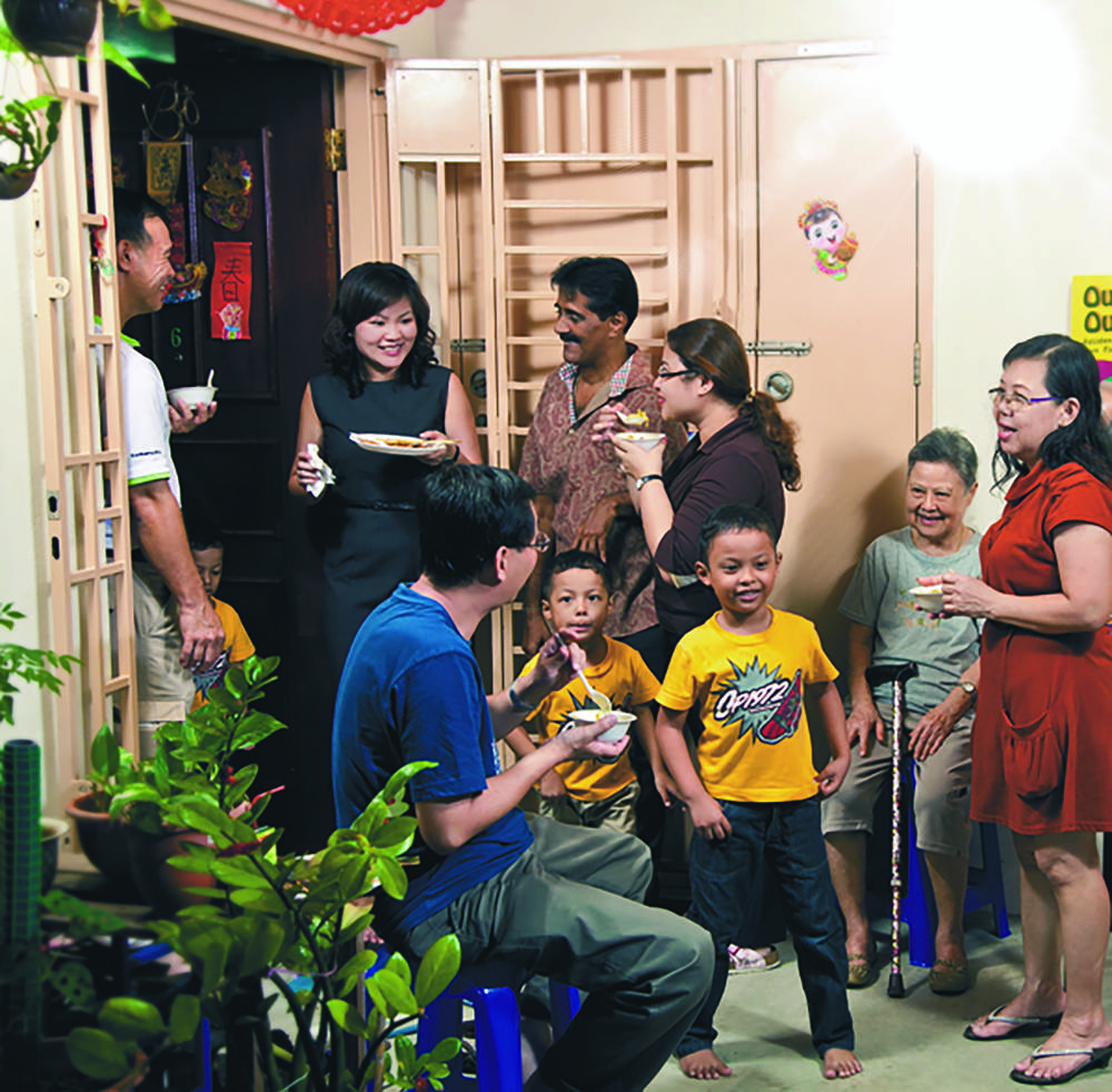 Uniquely Singapore – a block  party lets residents renew  bonds of friendship and common understanding.