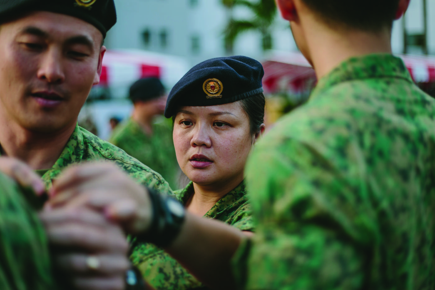 Was the first female singapore armed forces saf personnel to be deployed to afghanistan she recounts her lessons in professionalism and pride in rugged