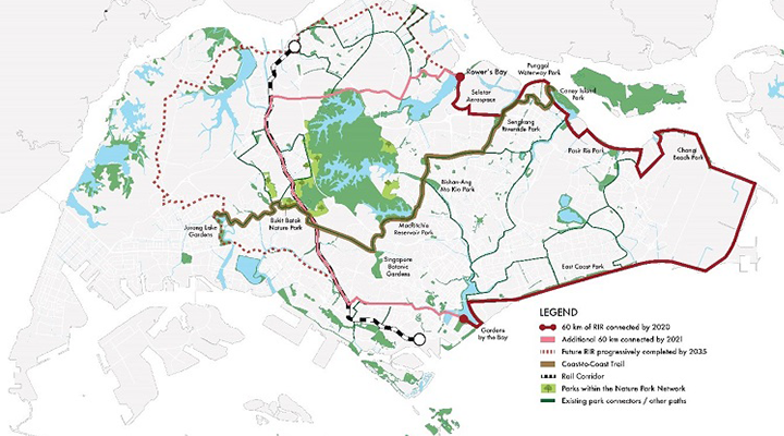 A map of the recreational connections planned, including the Round Island Route, Rail Corridor, and Coast to Coast trail.