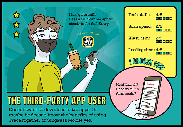 Third-party app users don't utilise or see the benefits of using government-issued apps.