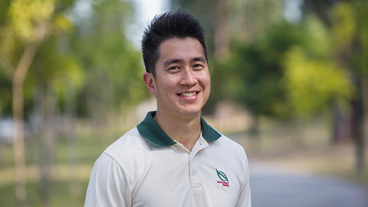 Mr Mervyn Tan is deputy director (Park Connector Network) and captain of the National Parks Board football team.