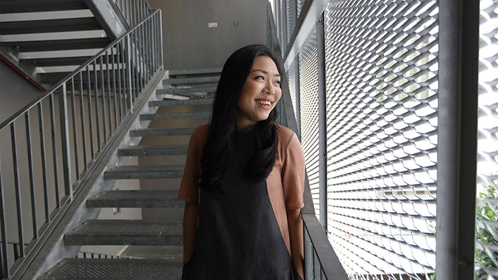 Ms Genine Loo, pictured here at a National Design Centre stairwell, is the programme lead for the President's Design Award review.
