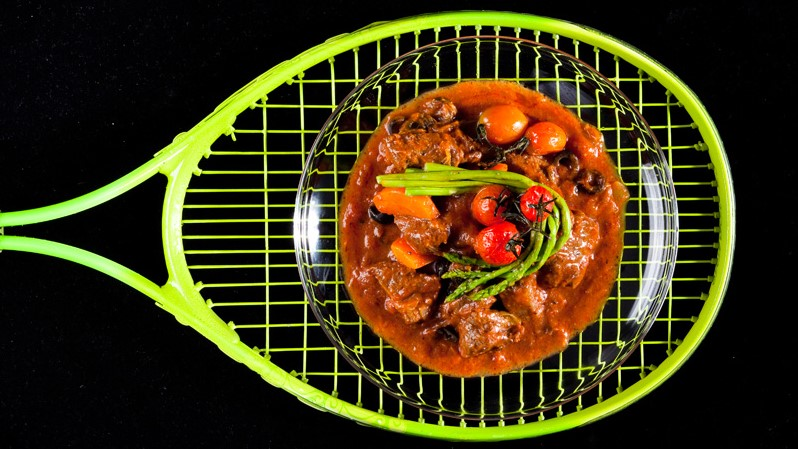 Braised Lamb in Tomato and Olive Sauce