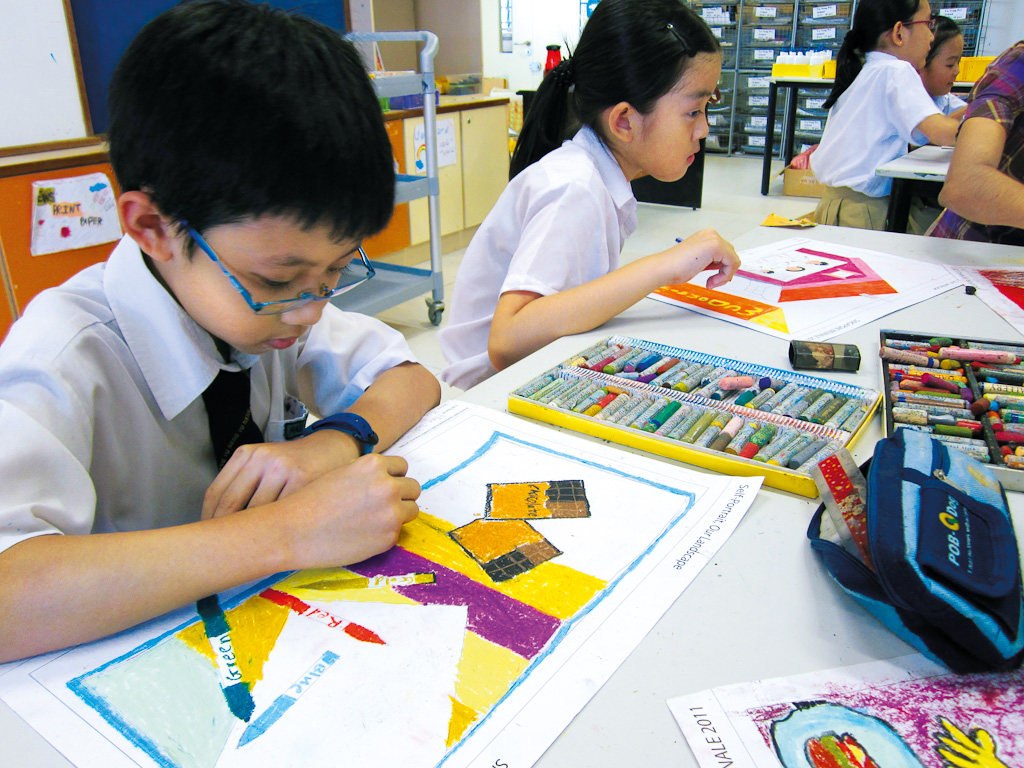 Yu Neng primary students drawing